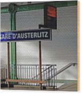 Gare D'austerlitz In Paris, France Wood Print
