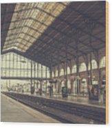 Gare Du Nord Wood Print