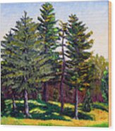 Garfield Trees Wood Print