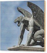 Gargoyle - Puente Del Regn Bridge - Valencia Spain Wood Print