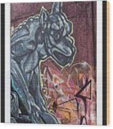 Gargoyle Madness Wood Print
