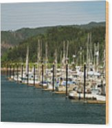 Garibaldi Oregon Marina Wood Print