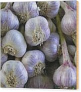 Garlic Bulbs Wood Print by Jen White