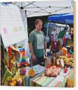 Garlic Festival Vendors Wood Print