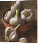 Garlic Wood Print