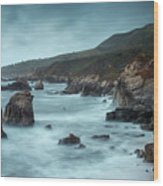 Garrapata Beach, Big Sur, California Wood Print