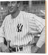Gary Cooper As Lou Gehrig In Pride Of The Yankees 1942 Wood Print