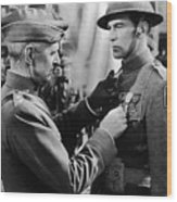 Gary Cooper Getting A Medal Of Honor As Sergeant York 1941 Wood Print