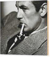 Gary Cooper Smoking C.1935 Wood Print