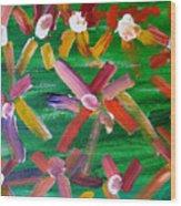 Gary's Flowers Wood Print