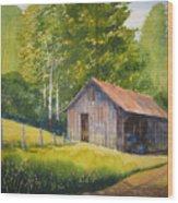 Gary's Garage Wood Print