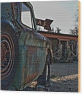Gas And Truck Wood Print