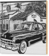 Gas Hog 41 Wood Print