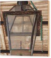 Gas Lamp French Quarter Wood Print