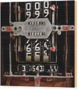 Gas Pump Meter Wood Print