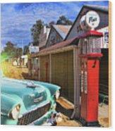 Gas Stop Wood Print