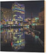Gas Street Basin At Night Wood Print