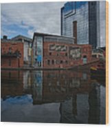 Gas Street Basin Birmingham Wood Print