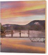 Gasconade River Sunrise Wood Print