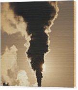 Gaseous Air Pollution Wood Print