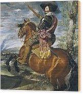 Gaspar De Guzmn Conde-duque De Olivares A Caballo Diego Rodriguez De Silva Y Velazquez Wood Print