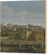 Gaspar Van Wittel  Called Vanvitelli Amersfoort 1652    1736   Rome  A View Of The Church Of Santi M Wood Print