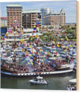 Gasparilla And Harbor Island Florida Wood Print