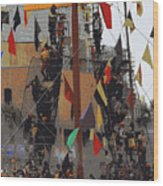 Gasparilla Ship Poster Wood Print