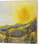 Gassaway Sunset Wood Print