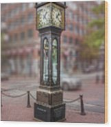 Gastown Steam Clock Wood Print