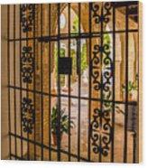 Gate - Alcazar Of Seville - Seville Spain Wood Print