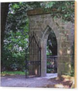 Gate At Cong Abbey Cong Ireland Wood Print