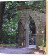 Gate At Cong Abbey Cong Ireland Wood Print