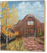 Gate By The San Juan Wood Print