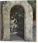 Gate In Rehavia I Wood Print