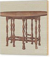 Gate Leg Table Wood Print