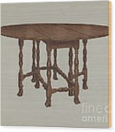 Gate-legged Table Wood Print