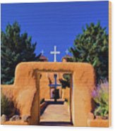 gate of church in Ranchos Wood Print