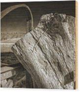 Gate Post Wood Print