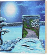 Gate To Spring Wood Print