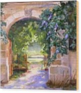 Gate To The Chateau Wood Print