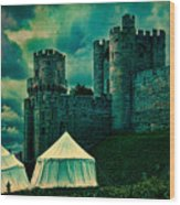 Gate Tower At Warwick Castle Wood Print