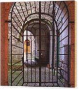 Gated Passage Wood Print