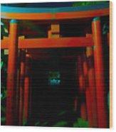 Gates Of Inari Wood Print