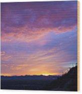 Gates Pass Sunset Wood Print