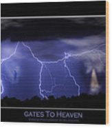 Gates To Heaven Color Poster Wood Print