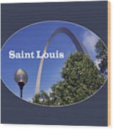 Gateway Arch - Saint Louis - Transparent Wood Print