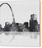 Gateway Arch St Louis Missouri Skyline Wood Print