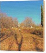Gateway To A No Trespassing Farm Wood Print