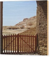 Gateway To Monthemhat Tomb Wood Print